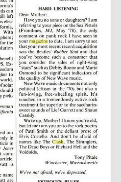 mother jones on punk -- jul 1978