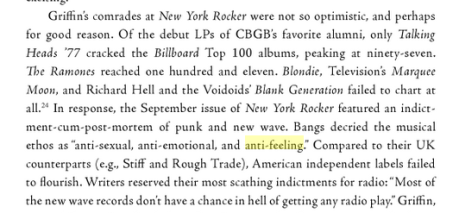 Punk's initial failure, according to the punk-o-philes in the US, circa Sept. 1978.